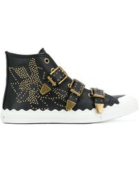 Chloé - Studded High Top Sneakers - Lyst