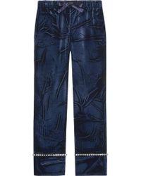 Gucci - Velvet Pajama Pants - Lyst