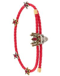 Alexander McQueen - Woven Skull Friendship Bracelet - Lyst