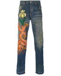 Gucci - Stonewashed Denim Jeans - Lyst