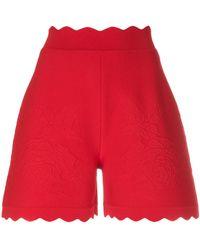 Alexander McQueen - Scalloped Hem Shorts - Lyst