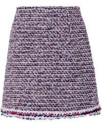 Moncler Gamme Rouge - Wool And Alpaca Tweed Skirt - Lyst