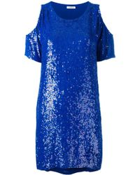 P.A.R.O.S.H. - Cut-out Detailed Sequin-embellished Dress - Lyst