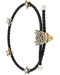 Alexander McQueen - King Skull Braided Bracelet - Lyst