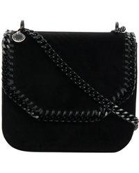 Stella McCartney - Falabella Box Medium Velvet Crossbody Bag - Lyst