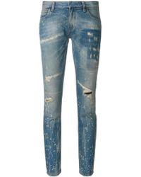 Faith Connexion | Distressed Low Cut Jeans | Lyst