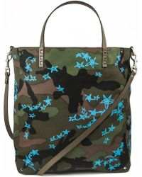Valentino - Camouflage Print Shopper Bag - Lyst