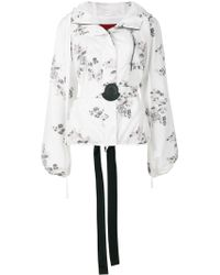 Moncler Gamme Rouge - Floral Patch Hooded Jacket - Lyst