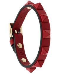 Valentino - Red Garavani Single Rockstud Bracelet - Lyst