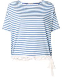 Moncler - Flared Striped T-shirt - Lyst