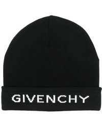 fa0d0b5fbba Lyst - Givenchy Logo Beanie Hat in Black for Men