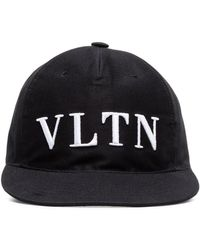 Valentino - Black Vltn Logo Baseball Cap - Lyst