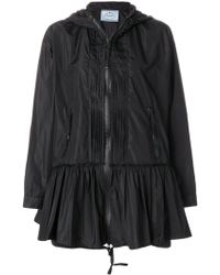 Prada - Pleated Flare Jacket - Lyst
