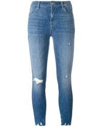 J Brand - Slim-fit Cropped Jeans - Lyst