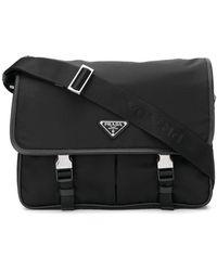 Prada - Safety Buckle Fastening Shoulder Bag - Lyst