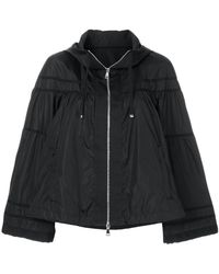 Moncler - Cropped Hooded Jacket - Lyst