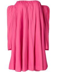 CALVIN KLEIN 205W39NYC - Bardot Ruffled Dress - Lyst