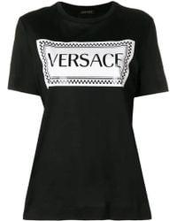 Versace - Print Logo T-shirt - Lyst