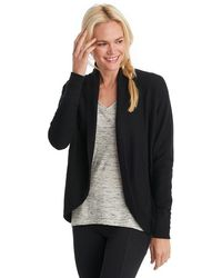 Neiman marcus Short-sleeve Cocoon Cardigan in Black | Lyst