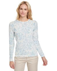 G.H. Bass & Co. - Watercolor Floral Crewneck Sweater - Lyst