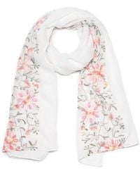 G.H. Bass & Co. - Embroidered Floral Oblong Scarf - Lyst