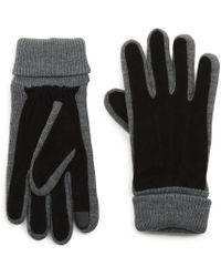 G.H.BASS - G.h. Bass Suede Knit Glove - Lyst