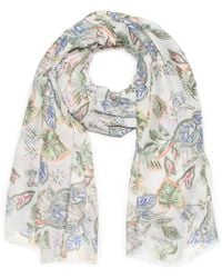 G.H. Bass & Co. - Multi Floral Print Oblong Scarf - Lyst