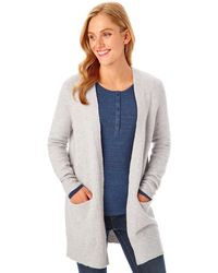 G.H. Bass & Co. - Open Front Cardigan - Lyst