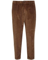 Department 5 - DEPARTMENT FIVE pantalone cammello a costine - Lyst