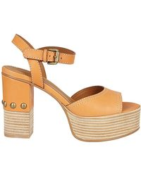 961c0af16f4 See By Chloé - SEE BY CHLOE  Sandalo tacco alto miele - Lyst