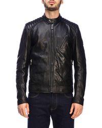 15b4b805633 Belstaff Beckenham Leather Military Jacket in Blue for Men - Lyst