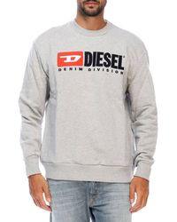 DIESEL - Denim Division Men's Crew Neck Sweat Top Grey - Lyst