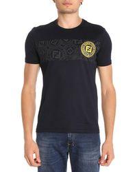 Coloris Bleu T Homme En Lyst Fendi Shirt Pour qBxTY 9a80baa326c
