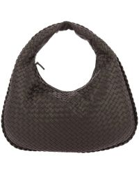 Bottega Veneta - Hobo Bag Veneta Medium In Leather With Woven Pattern - Lyst
