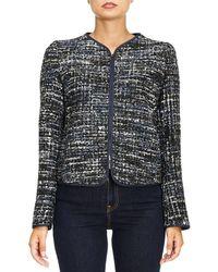 Armani - Tweed Zipped Jacket - Lyst