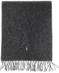 Polo Ralph Lauren - Wool Scarf With Logo - Lyst