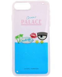Chiara Ferragni - Iphone 8 Case Chiara's Palace Rubber Case With Maxi Eye And Liquid In Movement - Lyst