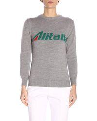 """Alberta Ferretti - """"alitalia"""" Virgin Wool Sweater - Lyst"""