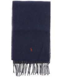 Polo Ralph Lauren - Scarf In Bicolor Wool With Logo - Lyst