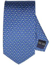 Ferragamo - Lamps Pattern Tie In Pure Silk 8 Cm - Lyst
