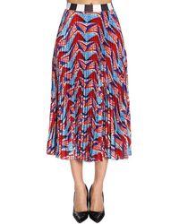 16087607f Stella Jean Marinaio Cascade Bird Skirt in White - Lyst