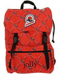 Pinko - Red And Black Jolly In Love Backpack - Lyst