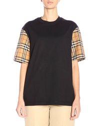 Burberry - Vintage Check Cotton T-shirt - Lyst