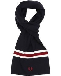Fred Perry - Merino Wool Scarf Navy - Lyst