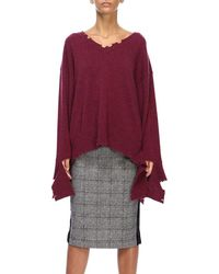 FEDERICA TOSI - V-neck Loose Knit Sweater - Lyst