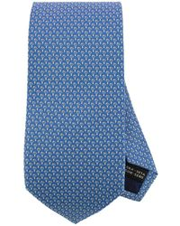 Ferragamo - 8 Cm Tie In Pure Silk With All-over Mushroom Pattern - Lyst