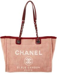 188d58c10aa6 Lyst - Chanel Deauville - Women s Chanel Deauville Totes