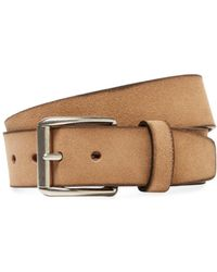 Berge' - Leather Square Buckle Belt - Lyst