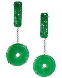 Dana Rebecca - Designs Courtney Lauren 14k Diamond & Jade Drop Earrings - Lyst