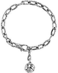 John Hardy - Kali Silver Link Ball Charm Bracelet - Lyst